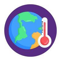 Global Warming Temperature vector