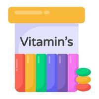 vitaminas y suplementos vector