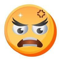Angry and Aggressive  Emoji vector