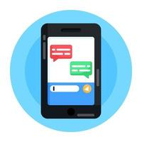Mobile and Digital  Chat vector