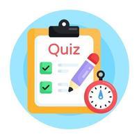 Exam and Quiz vector
