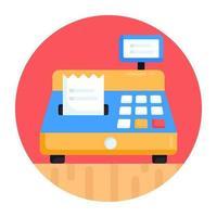 Cash Register Billing Machine vector