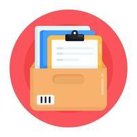 caso de expedientes y documentos vector