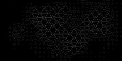 Dark Gray vector backdrop with lines, triangles.