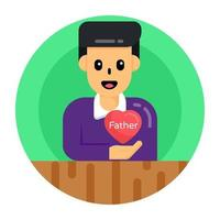 Love Father and Affection vector