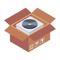 paquete de caja de cd vector