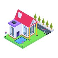Modern House and Residence vector