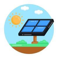 panel de energía solar vector
