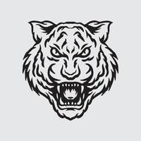 Tiger head drawing vector
