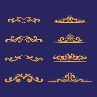 Ornament set drawing vector