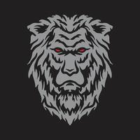 Lion head drawing vector