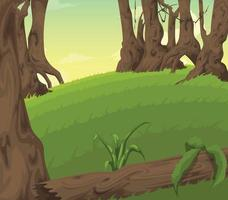 landscape background with tree vector