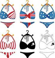 Bikini set illustration vector