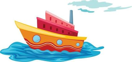Illustration of isolated yacht vector