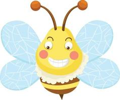 Illustration bee on white background vector