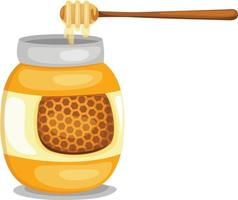 Jar with honey isolated illustration vector