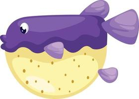 Ilustración de pez globo aislado vector