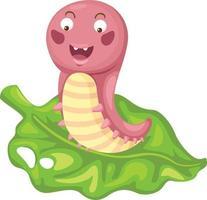 Illustration of isolated cartoon worm vector