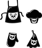 Illustration of isolated set clothing cooking vector