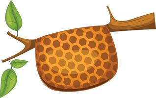 Honeycomb on tree vector