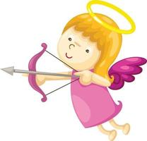 Cupid with bow and arrow illustration vector