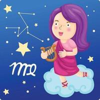 signos del zodíaco -virgo ilustración vector