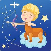 Zodiac signs -Sagittarius IIllustration vector