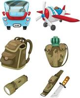 illustration isolated army set vector