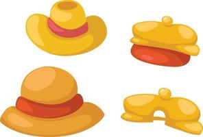 Hat isolated on white background vector
