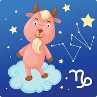 signos del zodíaco-capricornio vector