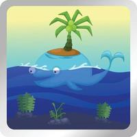Illustration of isolated Whale vector