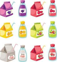 illustration isolated fruit and vegetables juice vector