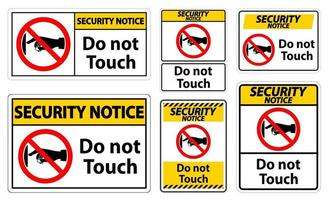 Security Notice do not touch vector