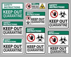 Safety Instructions Keep Out Quarantine vector