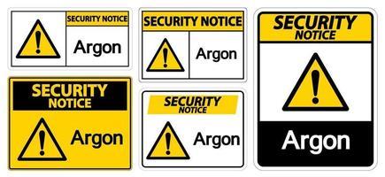 Security Notice Argon vector