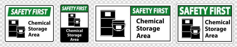 Safety First Chemical Storage Symbol vector