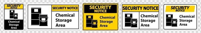 Security Notice Chemical Storage Symbol vector
