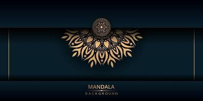 Luxury mandala vector background with golden color