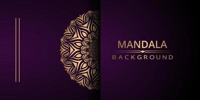 Luxury mandala vector background with golden arabesque style