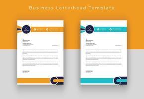 Modern company letterhead vector