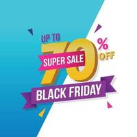 Black friday sale banner discount promotion vector