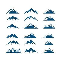 mountains peak vector icon logo design template