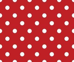 Vintage polka dots white and red pattern, colorful background vector