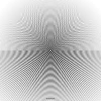 Abstract circle pattern black and white color ring. Sound wave, vector