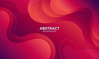 Abstract Red Fluid Wave Background vector
