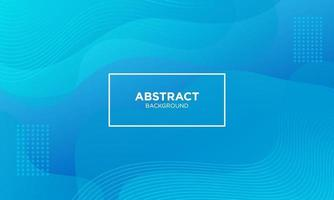 Abstract Blue Fluid Wave Background vector