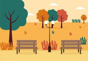 Autumn Background Landing Page Falling Leaves and Leaf Flying vector