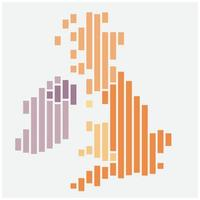 Simplicity modern abstract geometry United Kingdom map. vector
