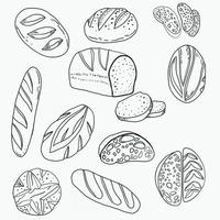 Doodle freehand sketch drawing of bread. vector