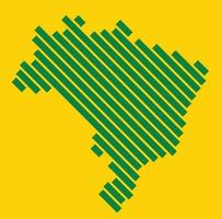 Simplicity modern abstract geometry Brazil map. Vector illustration.